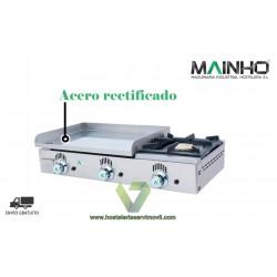 PLANCHA DE ACERO RECTIFICADO A GAS + FOGÓN MAINHO