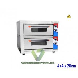 HORNO DE PIZZA ELECTRICO 4+4 X 26CM