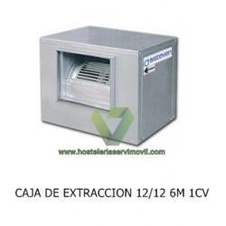 CAJA DE EXTRACCIÓN DE HUMOS PARA CAMPANA CON MOTOR 12/12 6M 1CV