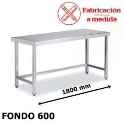 MESA ARRIOSTRADA CENTRAL DE ACERO INOX. ( 1800X600X850 )