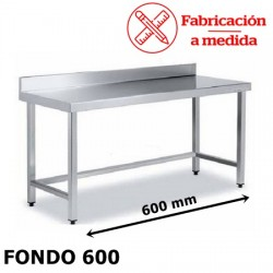MESA ARRIOSTRADA MURAL DE ACERO INOX. ( 600X600X850 )