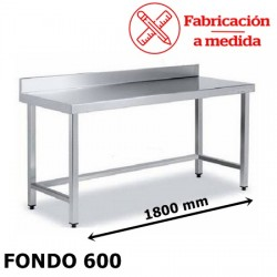 MESA ARRIOSTRADA MURAL DE ACERO INOX. ( 1800X600X850 )