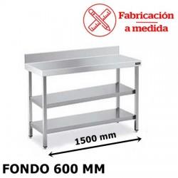 MUEBLE ESTANTERIA DE ACERO INOXIDABLE FBB-2D