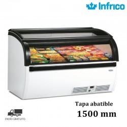 CONSERVADORA EXPOSITORA 1500 CURVO TAPA ABATIBLE