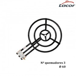 PAELLERO A GAS BUTANO 3 QUEMADOR Ø60