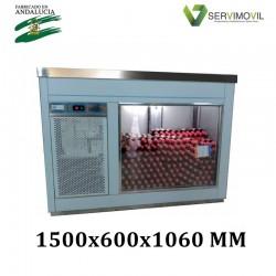 VITRINA BOTELLINES ACERO INOX VB-1500