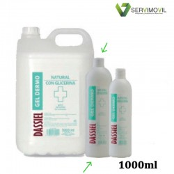 GEL HIDROALCOHÓLICO 1000 ML NATURAL CON GLICERINA